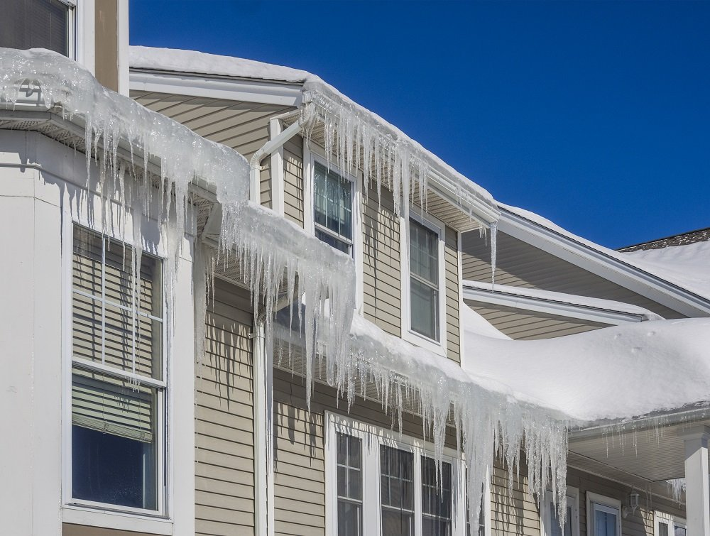 winter ice dams on your house